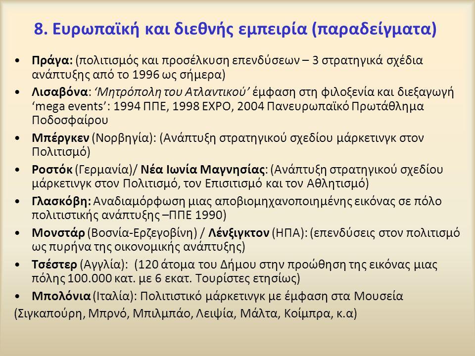 8. Ευρωπαϊκή και διεθνής εμπειρία (παραδείγματα)