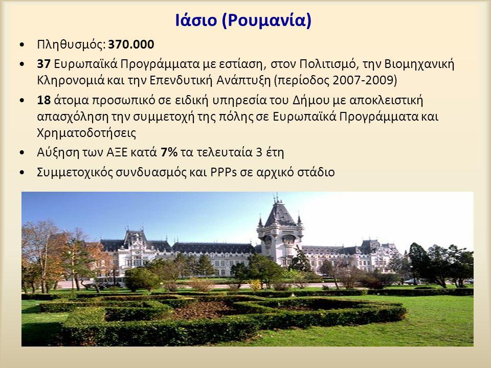 Ιάσιο (Ρουμανία) Πληθυσμός: 370.000