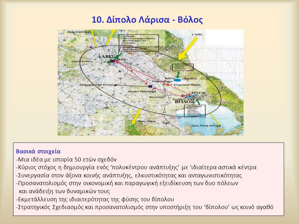 10. Δίπολο Λάρισα - Βόλος Βασικά στοιχεία