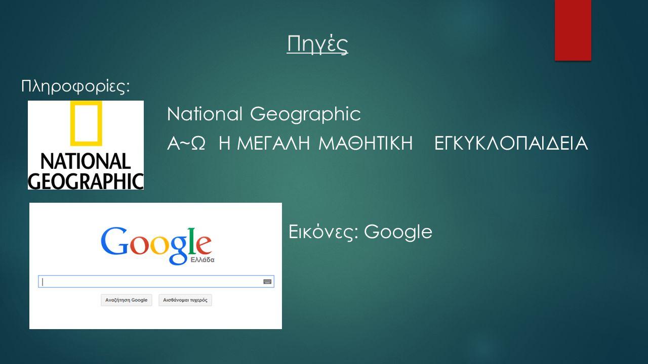Πηγές Α~Ω Η ΜΕΓΑΛΗ ΜΑΘΗΤΙΚΗ ΕΓΚΥΚΛΟΠΑΙΔΕΙΑ Εικόνες: Google