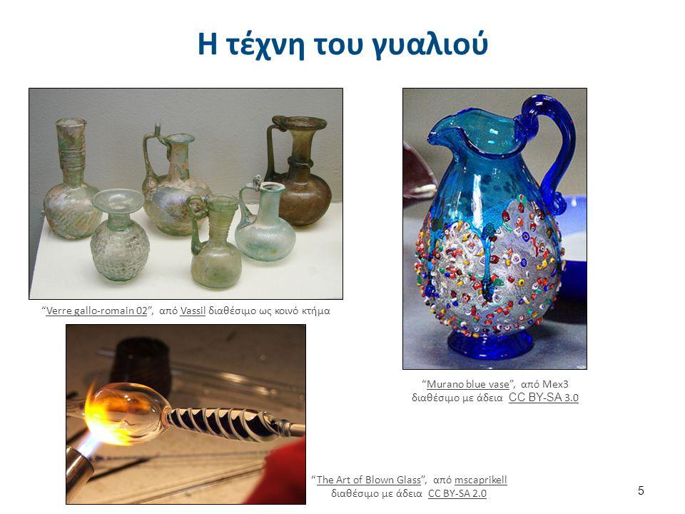 Γυάλινα προϊόντα Η γυάλινη συσκευασία περιλαμβάνει φιάλες, βάζα, δοχεία διαφόρων σχημάτων, κά.