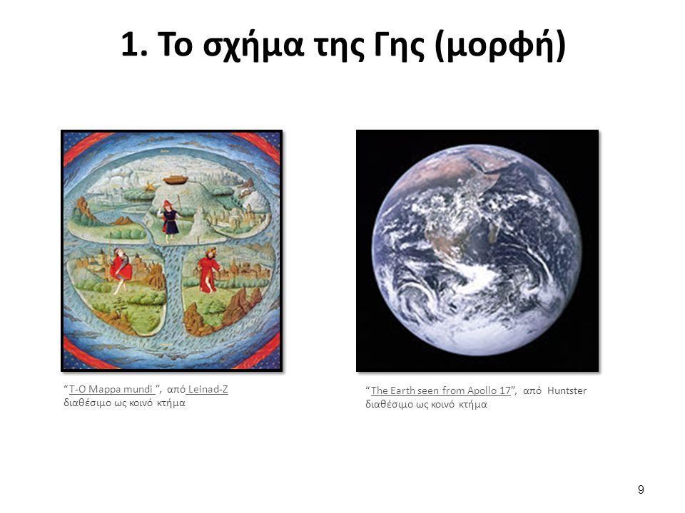 2. Το μέγεθος της Γης (διαστάσεις)