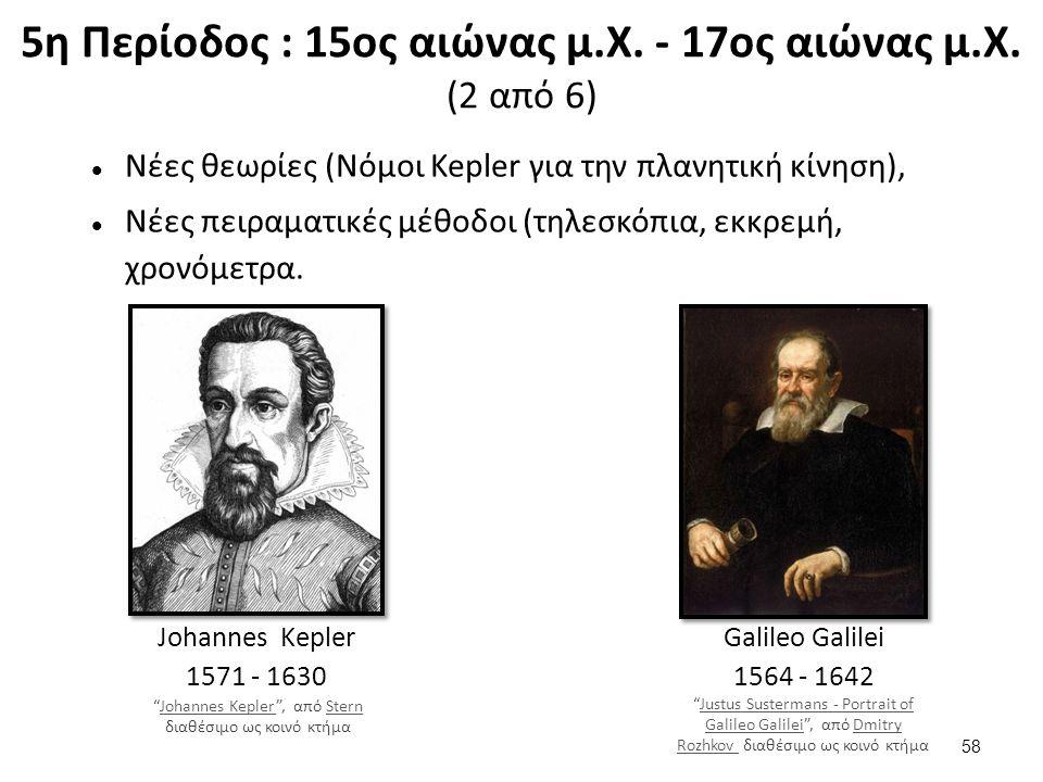 5η Περίοδος : 15ος αιώνας μ.Χ. - 17ος αιώνας μ.Χ. (3 από 6)