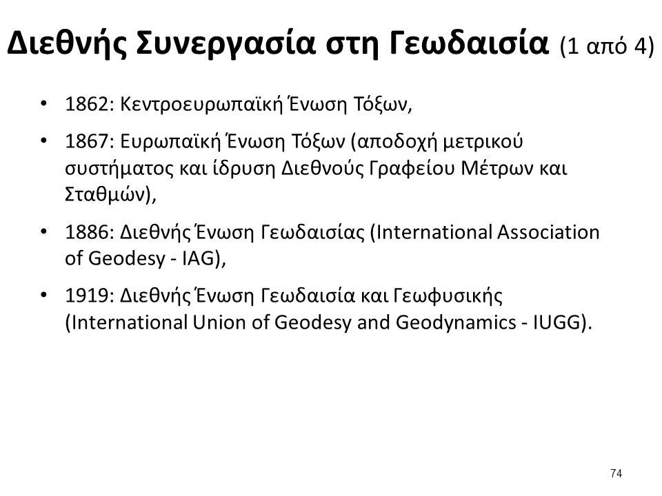 Διεθνής Συνεργασία στη Γεωδαισία (2 από 4)
