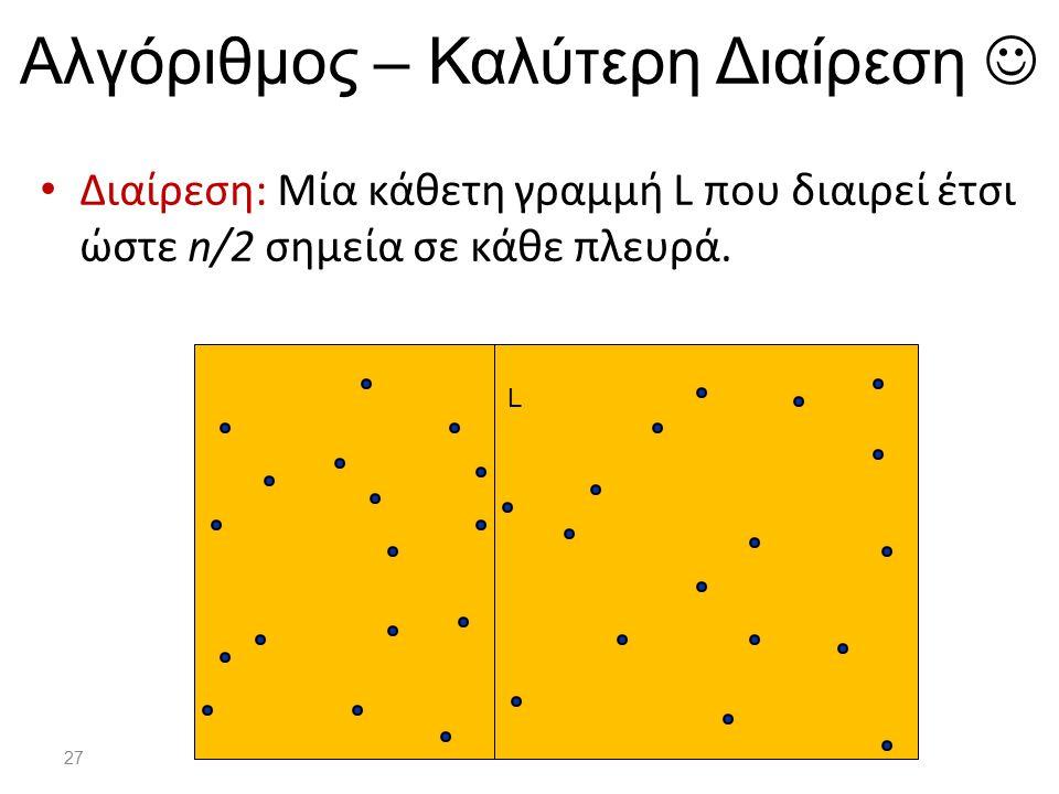 Αλγόριθμος – Καλύτερη Διαίρεση 
