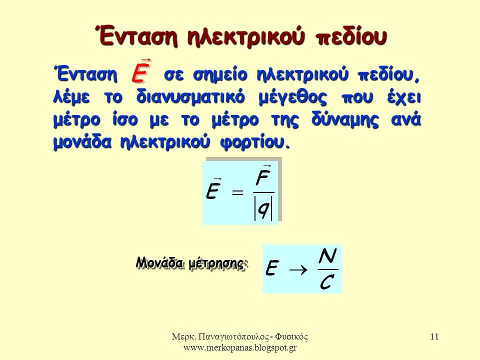 Ένταση ηλεκτρικού πεδίου