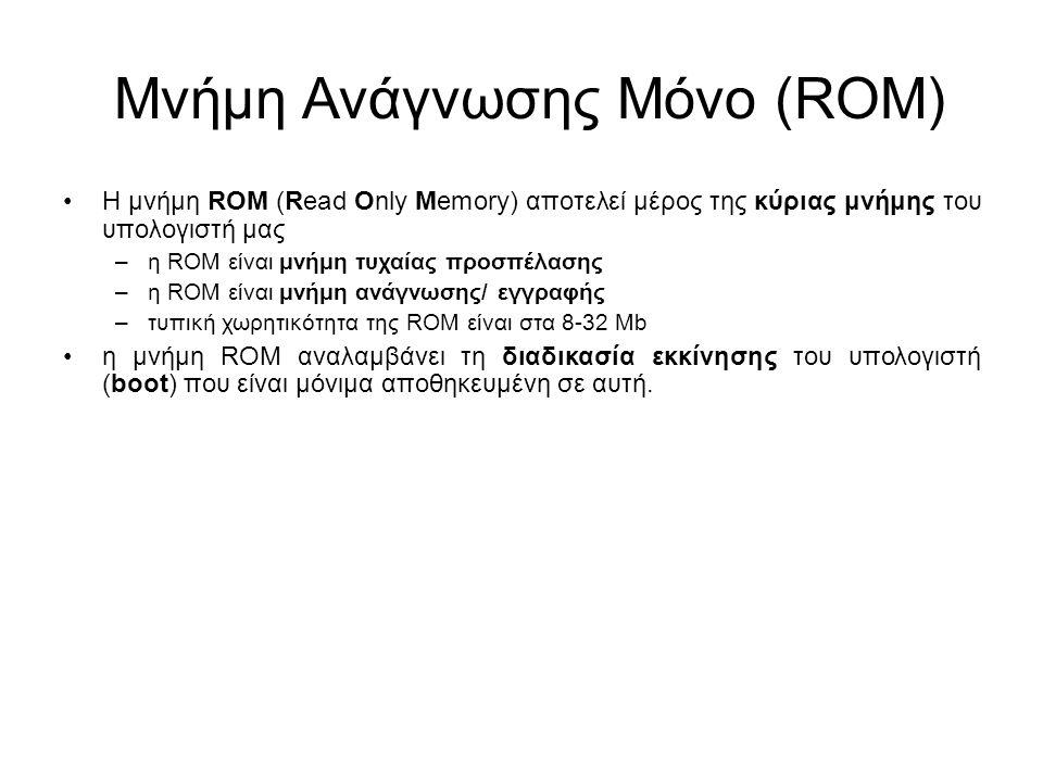 Μνήμη Ανάγνωσης Μόνο (ROM)