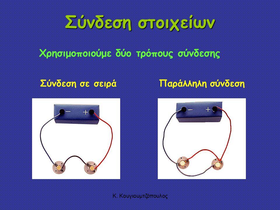 Σύνδεση στοιχείων Χρησιμοποιούμε δύο τρόπους σύνδεσης Σύνδεση σε σειρά