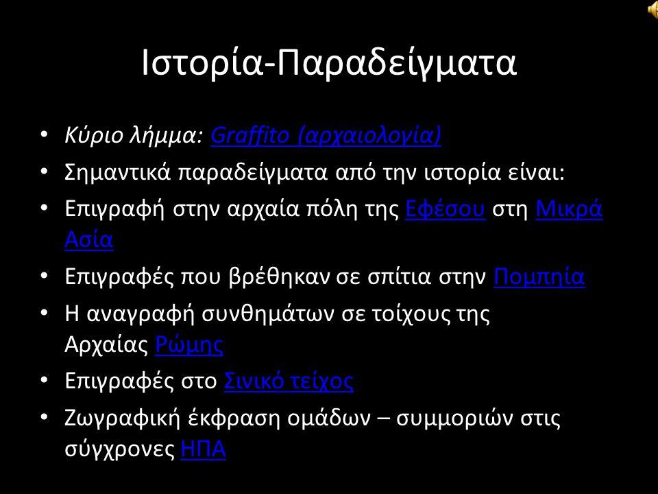 Ιστορία-Παραδείγματα