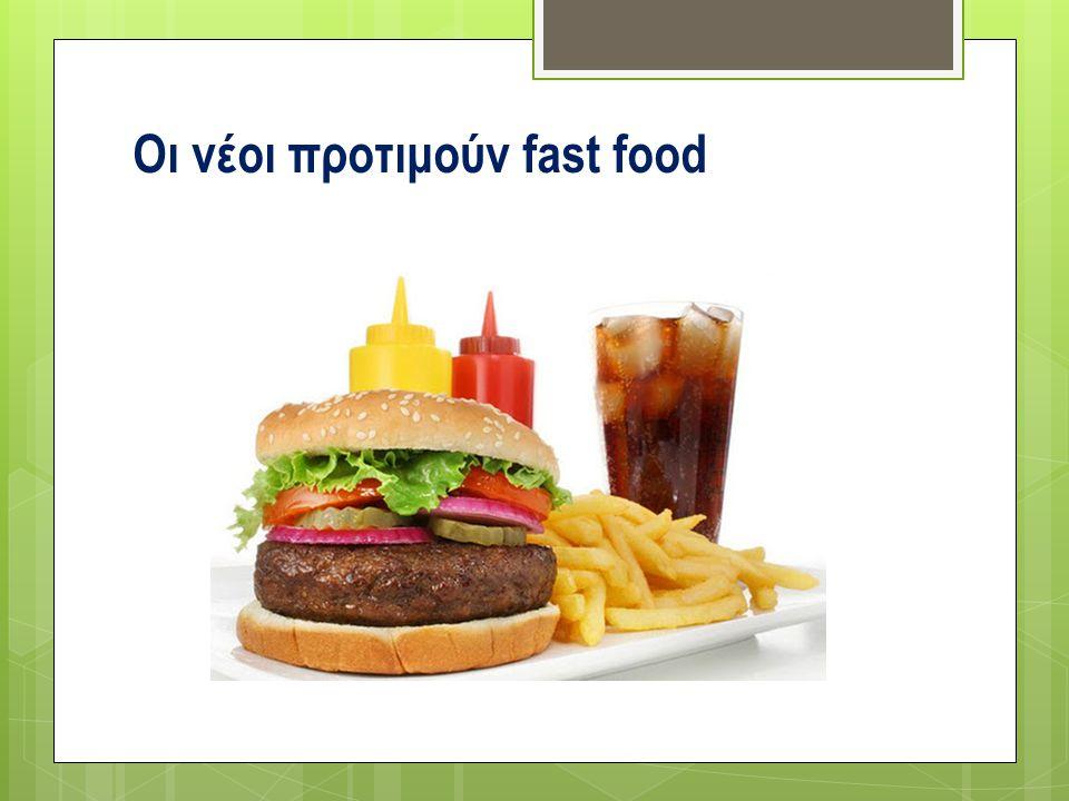 Οι νέοι προτιμούν fast food