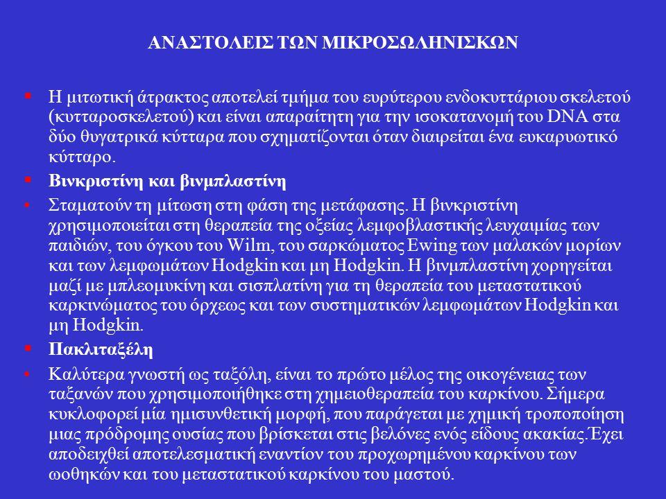 ΑΝΑΣΤΟΛΕΙΣ ΤΩΝ ΜΙΚΡΟΣΩΛΗΝΙΣΚΩΝ