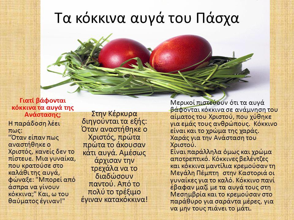 Τα κόκκινα αυγά του Πάσχα