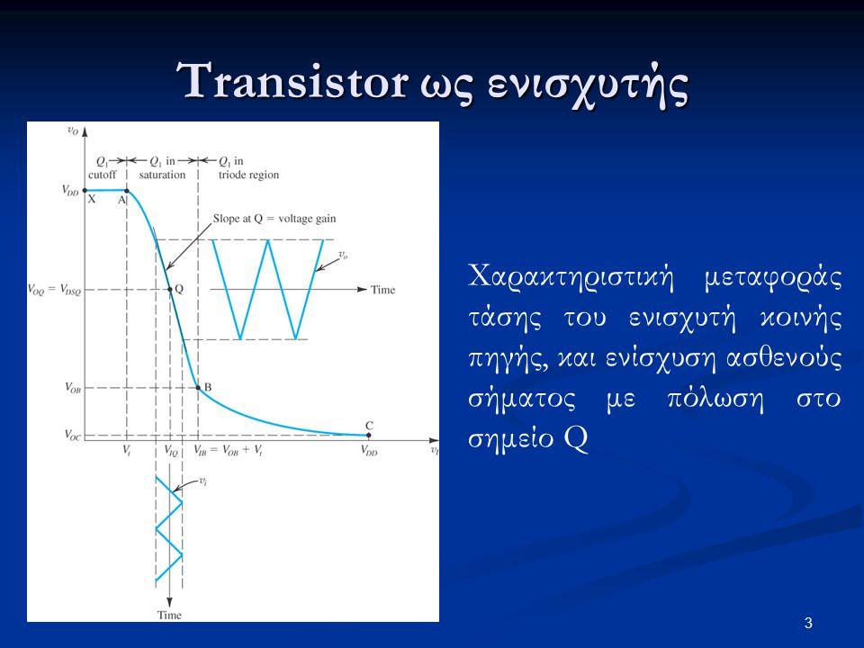 Transistor ως ενισχυτής