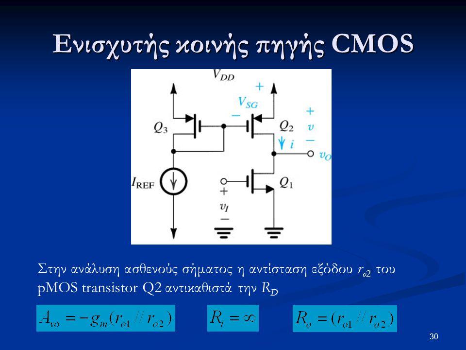 Ενισχυτής κοινής πηγής CMOS
