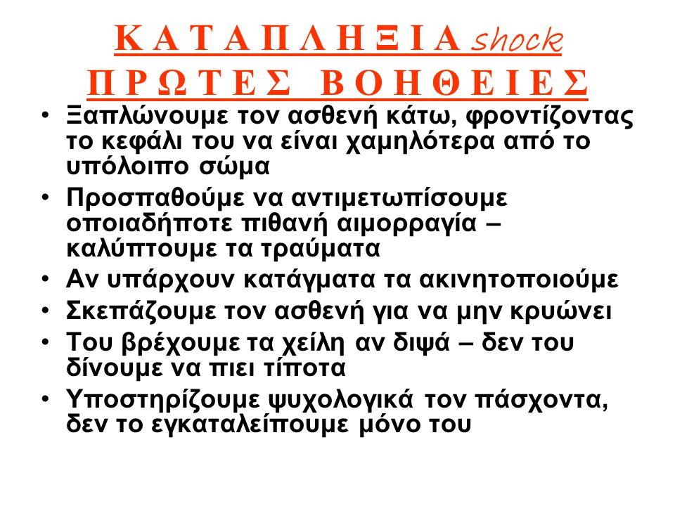 Κ Α Τ Α Π Λ Η Ξ Ι Α shock Π Ρ Ω Τ Ε Σ Β Ο Η Θ Ε Ι Ε Σ