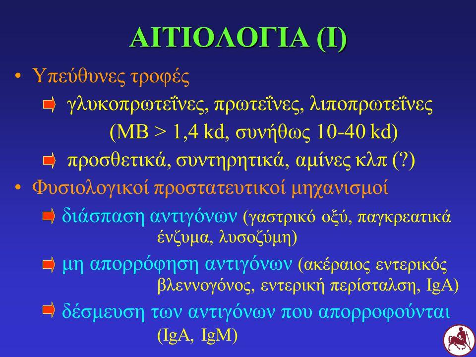 ΑΙΤΙΟΛΟΓΙΑ (Ι) Υπεύθυνες τροφές