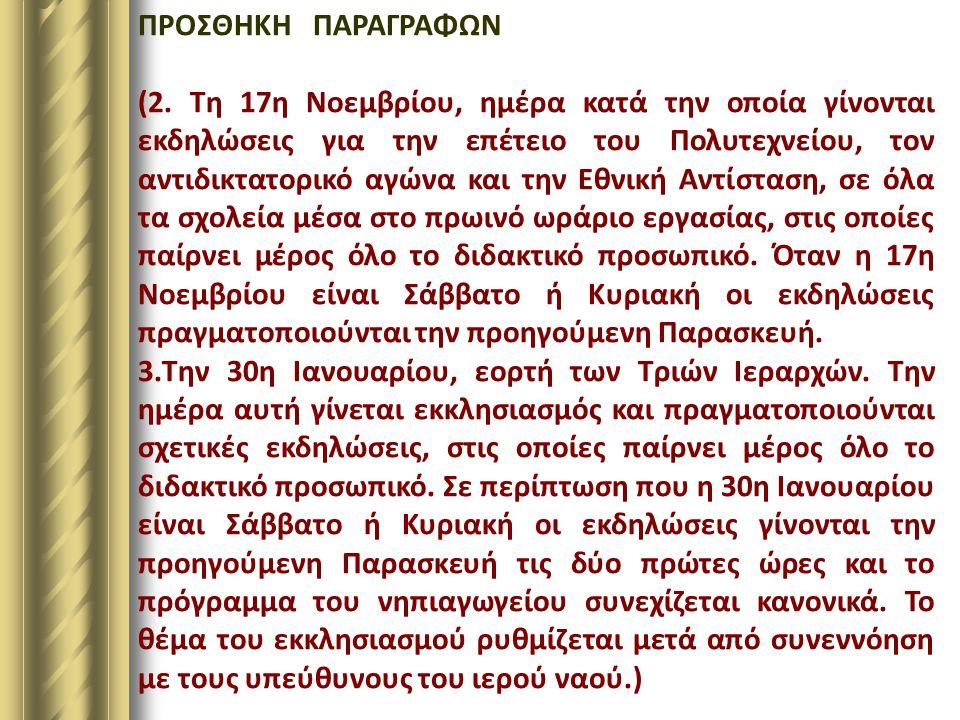 ΠΡΟΣΘΗΚΗ ΠΑΡΑΓΡΑΦΩΝ