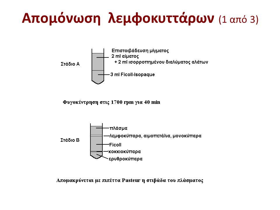 Απομόνωση λεμφοκυττάρων (2 από 3)