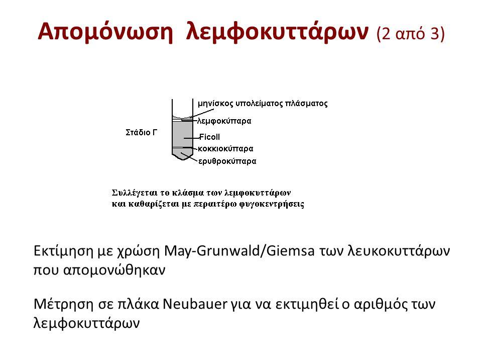 Απομόνωση λεμφοκυττάρων (3 από 3)