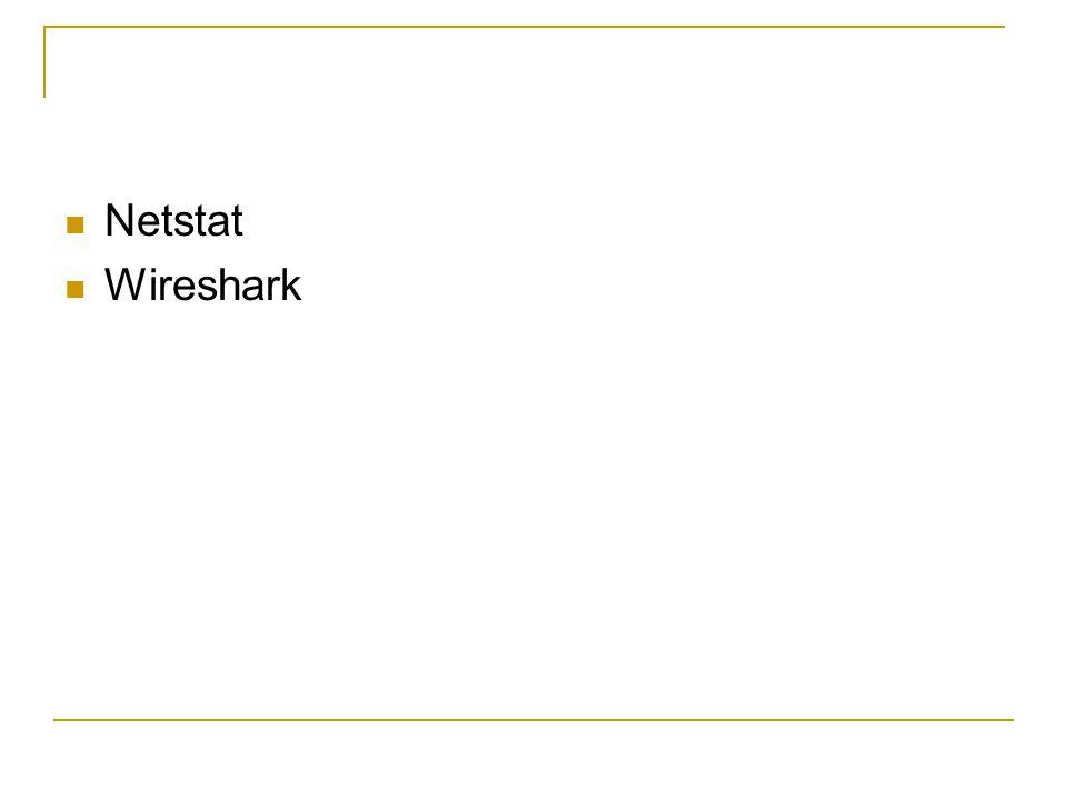 Netstat Wireshark