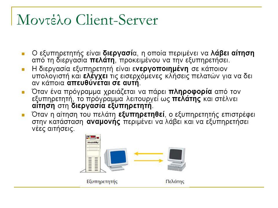 Μοντέλο Client-Server