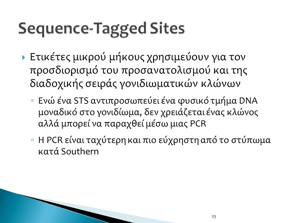 Sequence-Tagged Sites