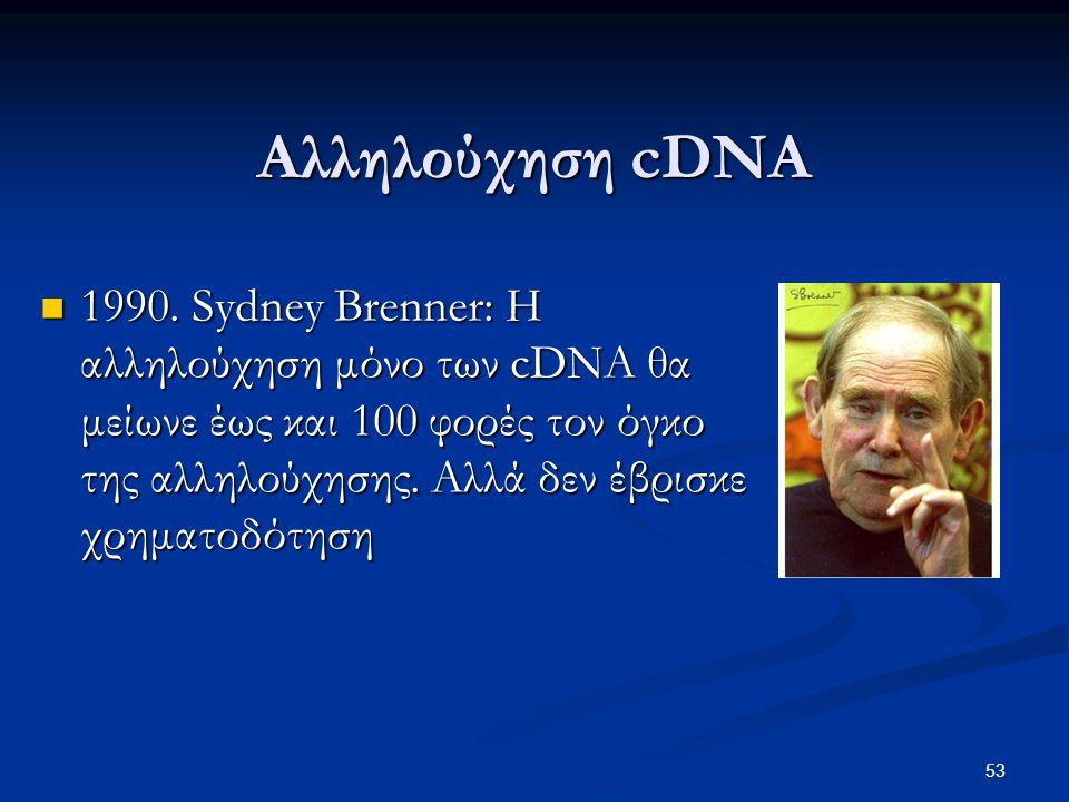Αλληλούχηση cDNA
