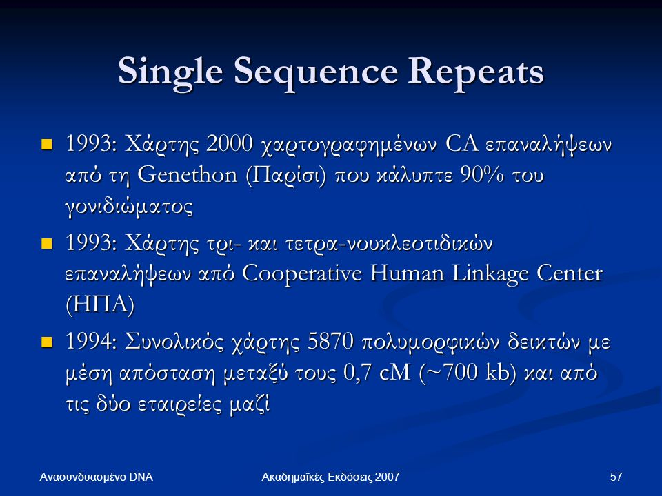 Single Sequence Repeats