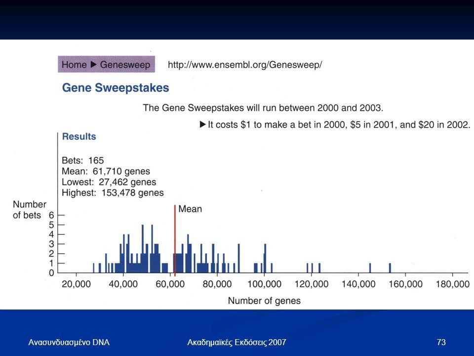 Ανασυνδυασμένο DNA Ακαδημαϊκές Εκδόσεις 2007