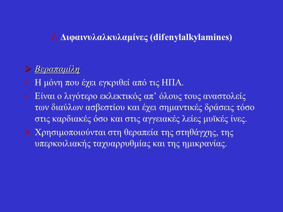1. Διφαινυλαλκυλαμίνες (difenylalkylamines)