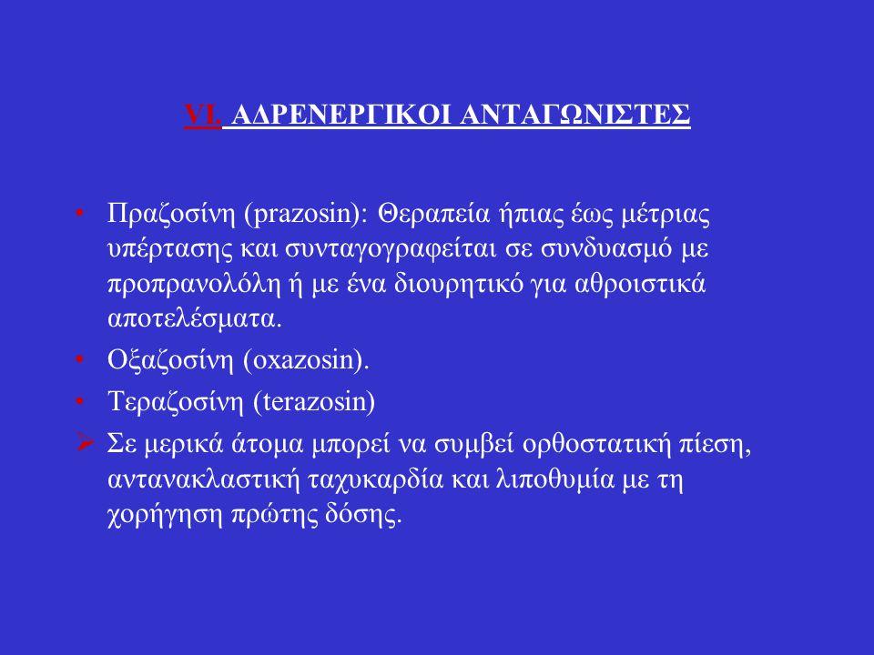 VI. ΑΔΡΕΝΕΡΓΙΚΟΙ ΑΝΤΑΓΩΝΙΣΤΕΣ