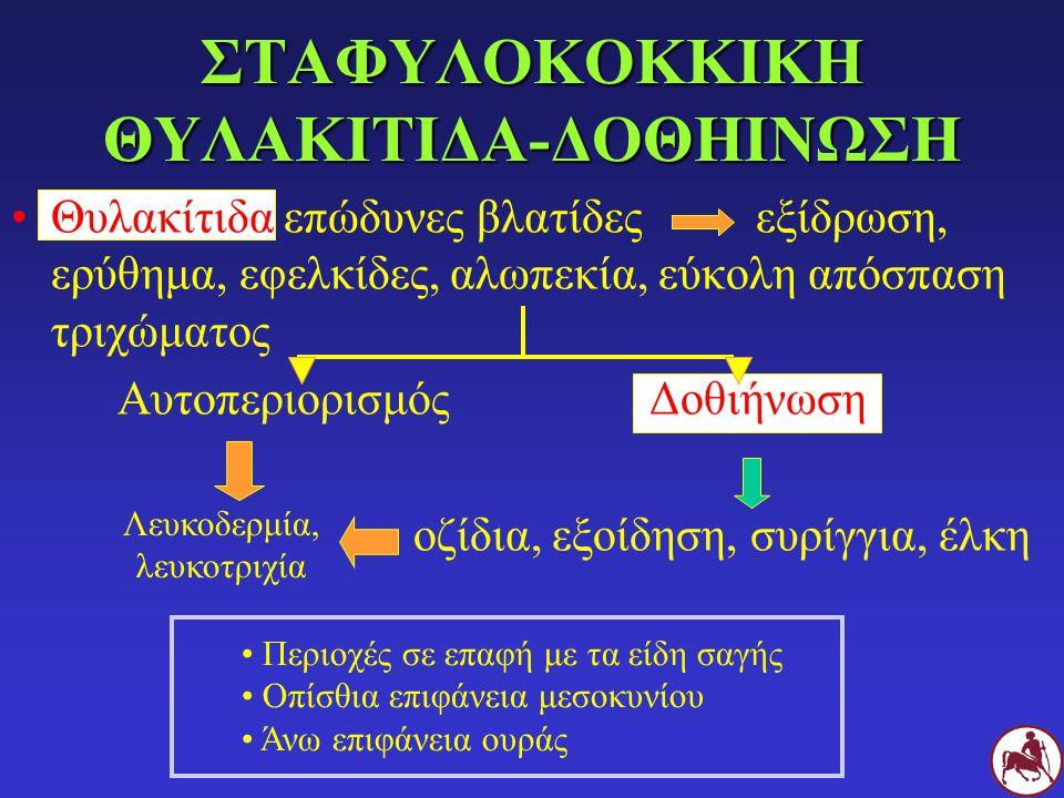 ΣΤΑΦΥΛΟΚΟΚΚΙΚΗ ΘΥΛΑΚΙΤΙΔΑ-ΔΟΘΗΙΝΩΣΗ