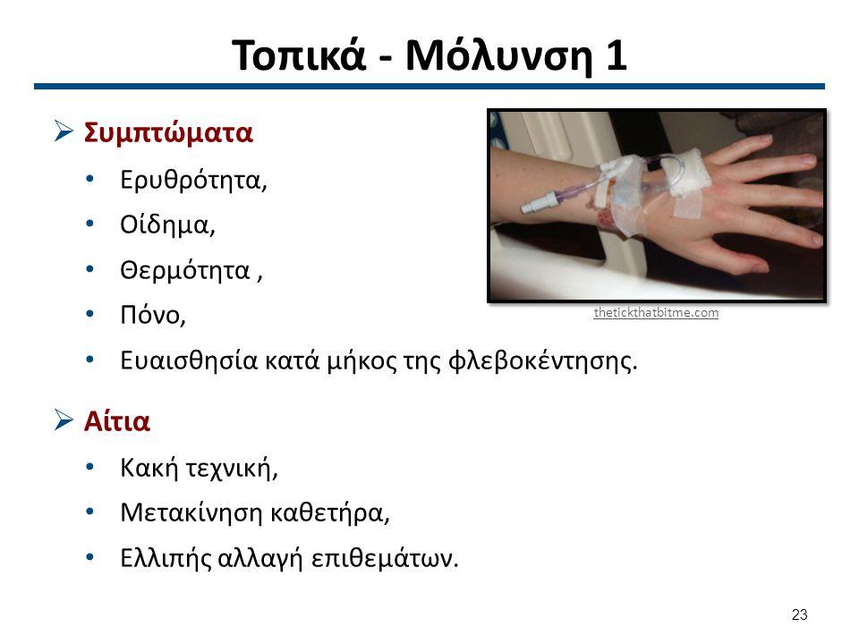 Τοπικά - Μόλυνση 2 Προληπτικά μέτρα Παρέμβαση Άσηπτη τεχνική,