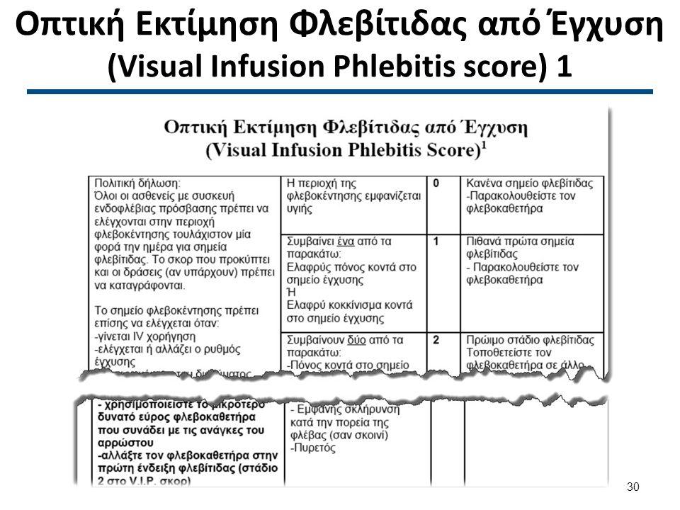 Οπτική Εκτίμηση Φλεβίτιδας από Έγχυση (Visual Infusion Phlebitis score) 2