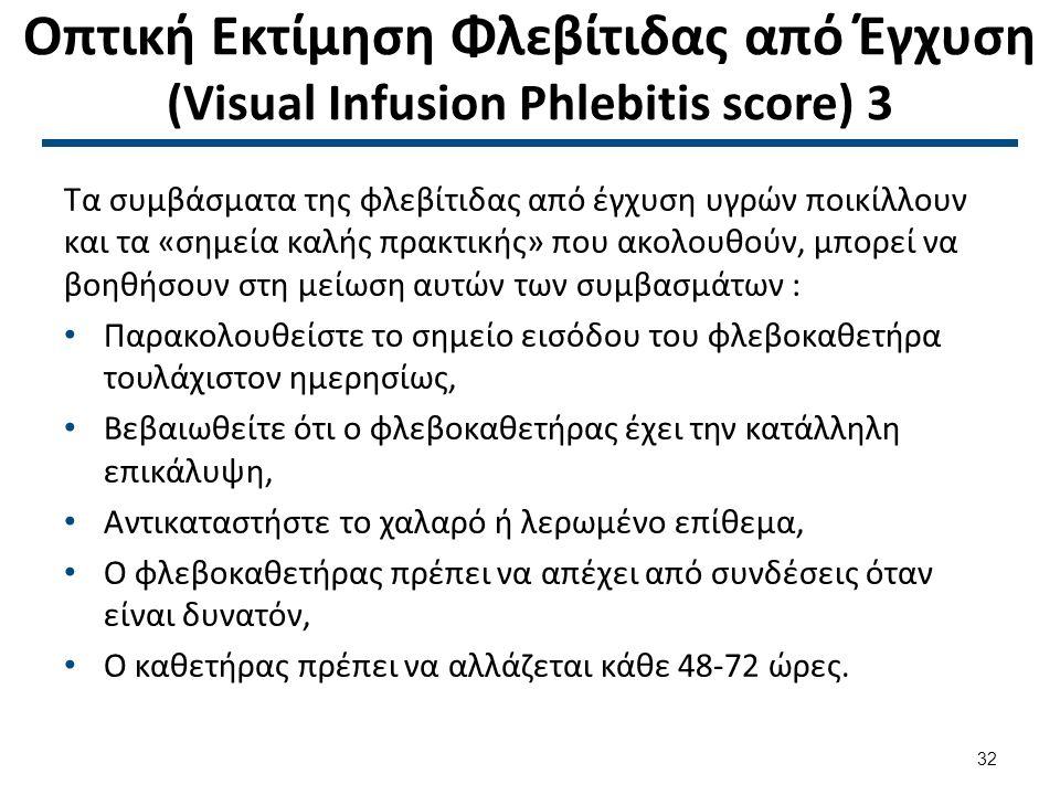 Οπτική Εκτίμηση Φλεβίτιδας από Έγχυση (Visual Infusion Phlebitis score) 4