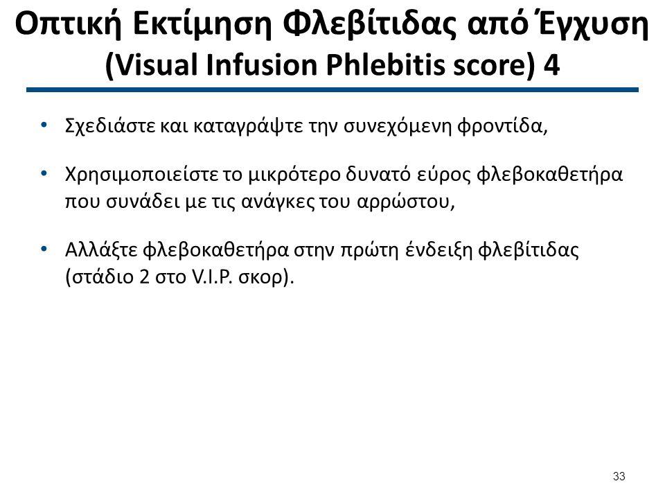 Οπτική Εκτίμηση Φλεβίτιδας από Έγχυση (VIP score) 1