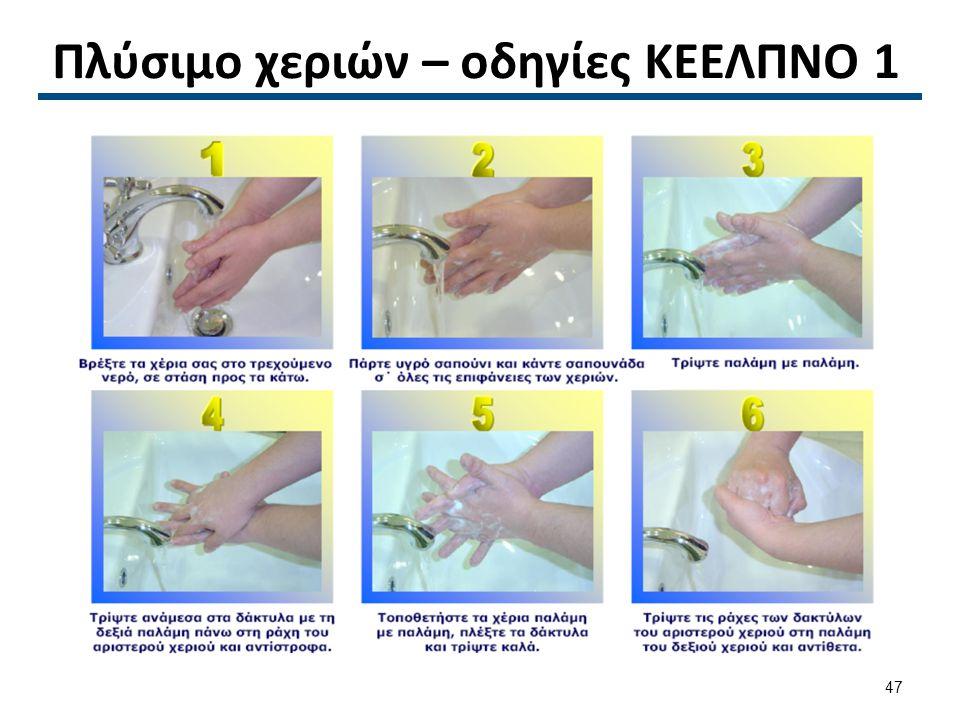Πλύσιμο χεριών – οδηγίες ΚΕΕΛΠΝΟ 2