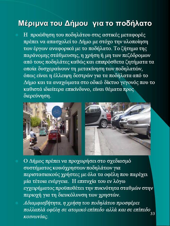 Μέριμνα του Δήμου για το ποδήλατο