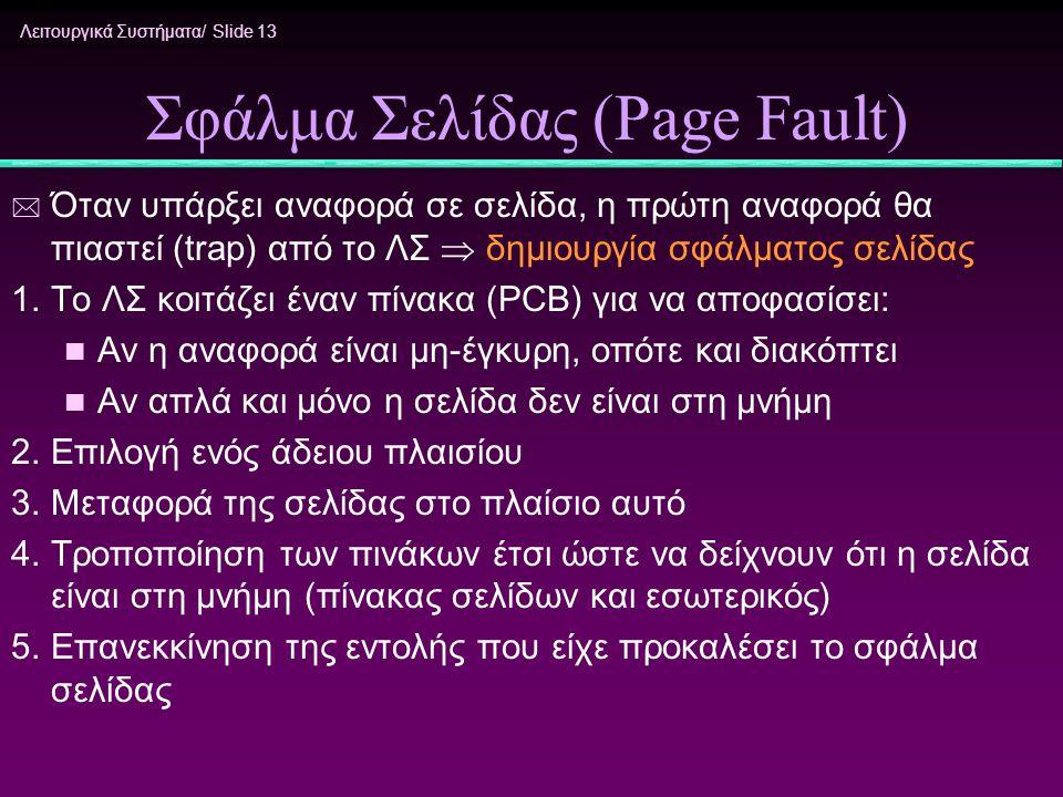 Σφάλμα Σελίδας (Page Fault)