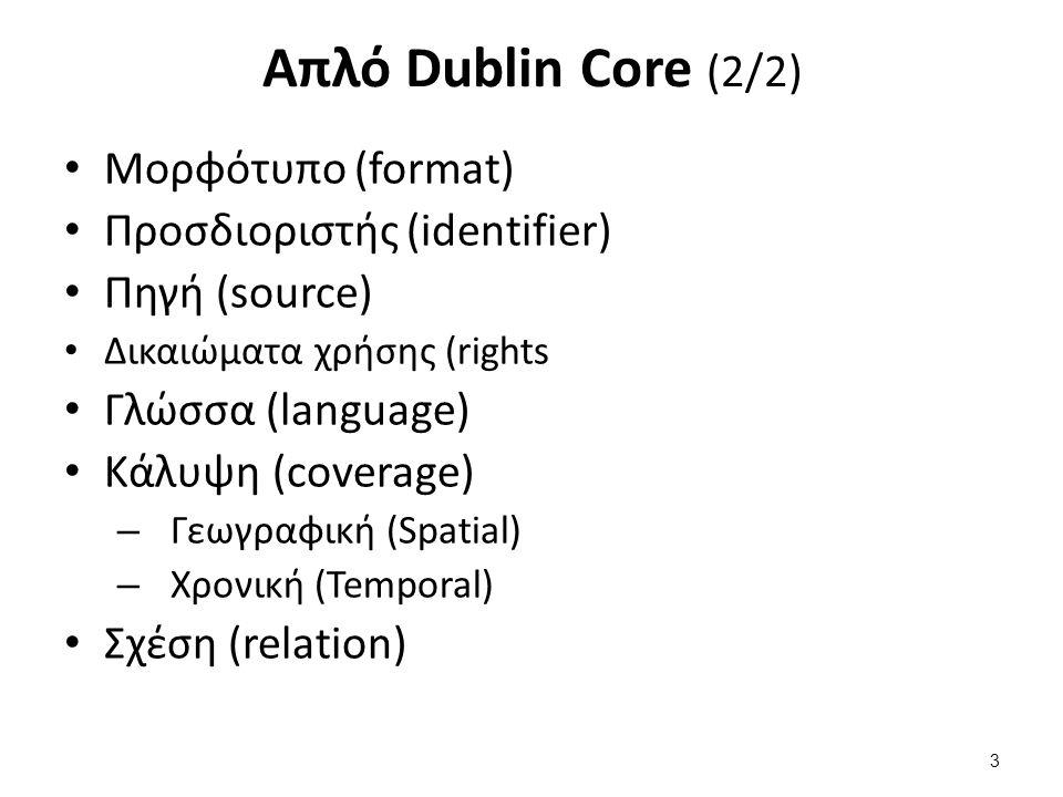 Η φιλοσοφία του Dublin Core