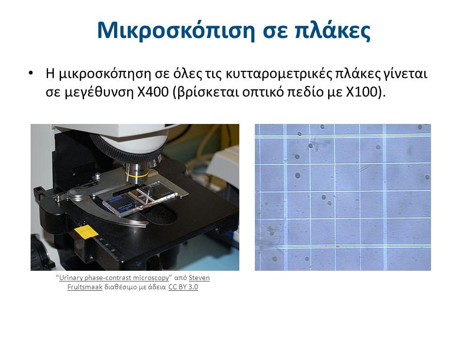Παράδειγμα χρήσης κυτταρομετρικής πλάκας