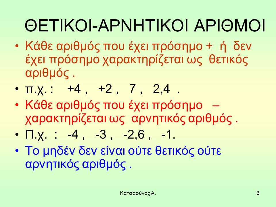 ΘΕΤΙΚΟΙ-ΑΡΝΗΤΙΚΟΙ ΑΡΙΘΜΟΙ