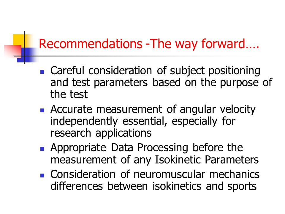 Recommendations -The way forward….