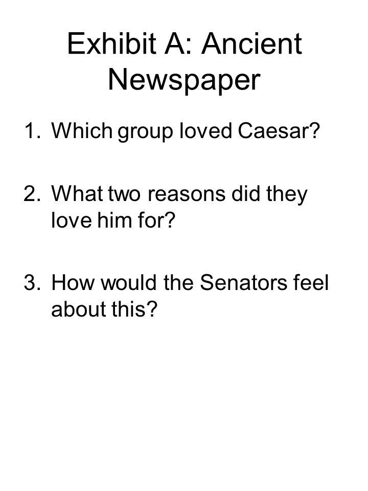 Exhibit A: Ancient Newspaper