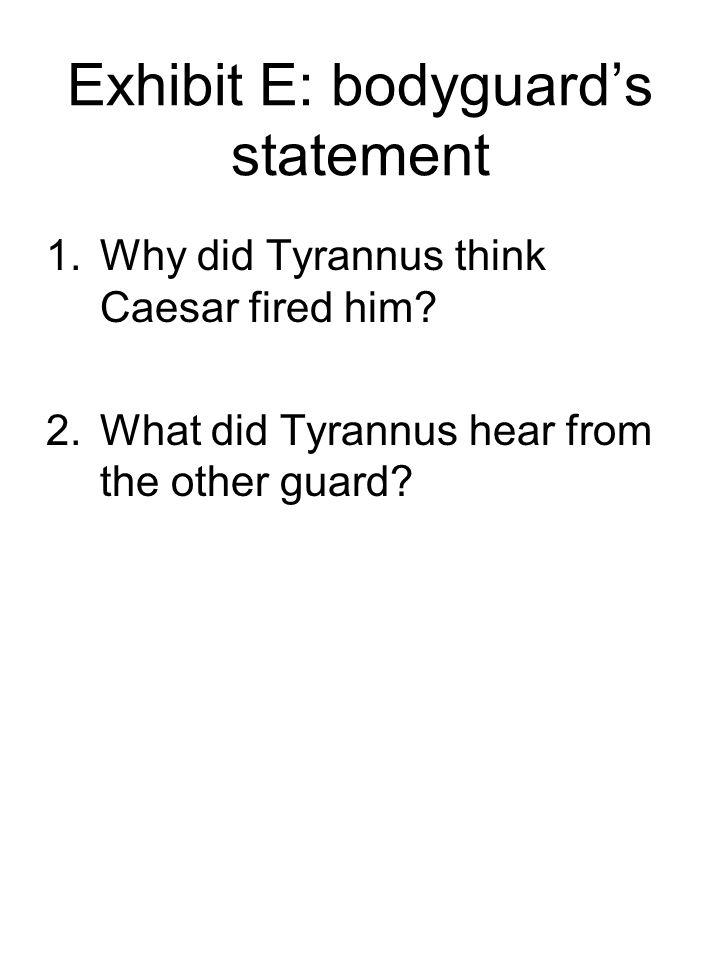 Exhibit E: bodyguard's statement