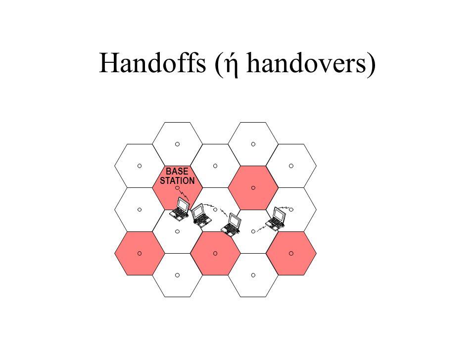 Handoffs (ή handovers)