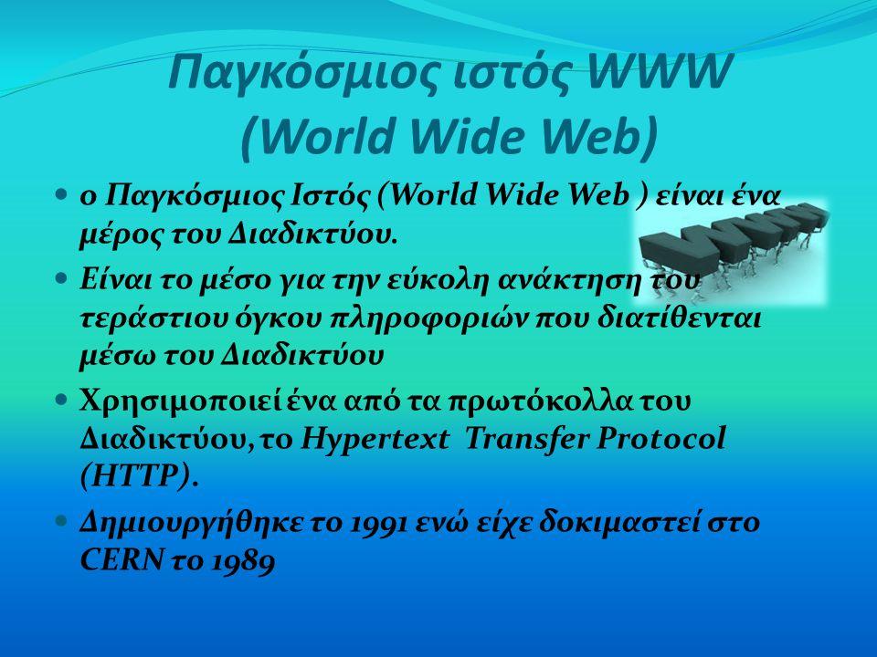 Παγκόσμιος ιστός WWW (World Wide Web)