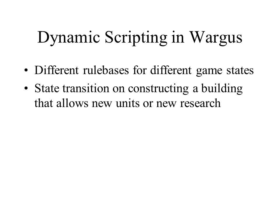 Dynamic Scripting in Wargus