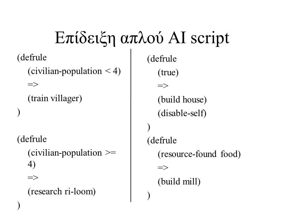 Επίδειξη απλού AI script