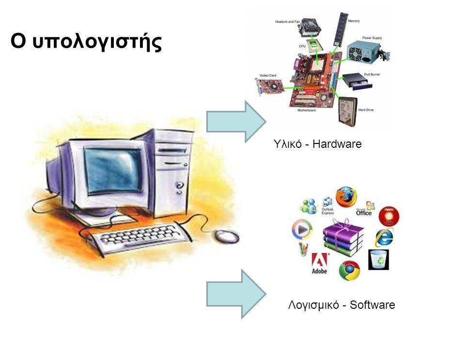 Ο υπολογιστής Υλικό - Hardware Λογισμικό - Software
